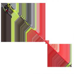 Bâtons de slalom géant Venom GS Trigger