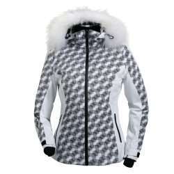 Graphic women's ski jacket