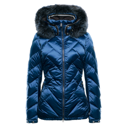 Nell fur women's down ski jacket