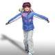 Leila-D ski jacket Girls