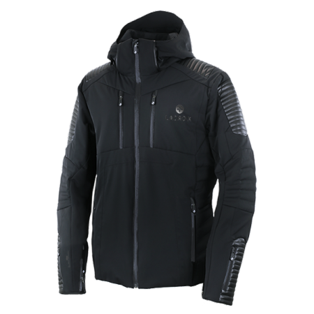 Dark men's ski jacket
