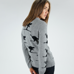Carving women's sweater