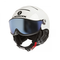 Leather LX helmet + irridium visor