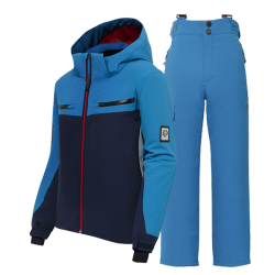 Swiss boy's ski suit