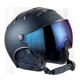 Chrome ski helmet & visor