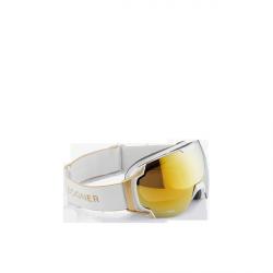 Gold ski goggles