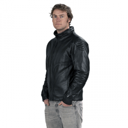 Leather Bellevarde ski jacket MS