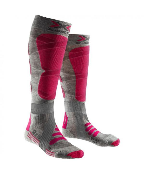 Chaussettes de ski femme Merinos & soie