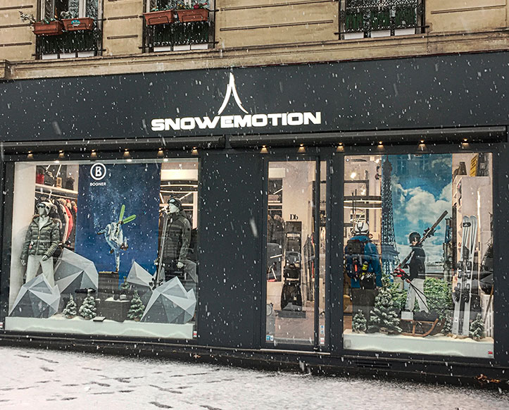 New ski store in Paris